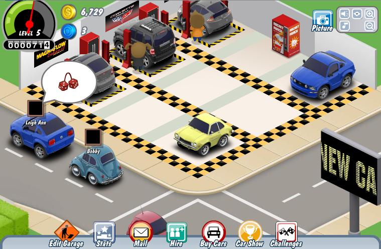 On Screen Cars - Car show games